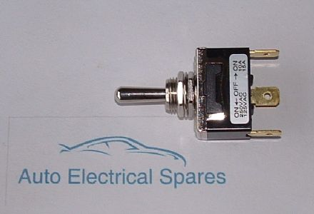 180589 Toggle switch 3 position 3 terminals ON-OFF-ON METAL CHROME